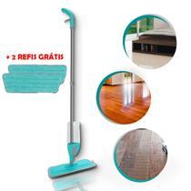 Esfregão mop spray rodo vassoura magica com reservatorio + 2 refil - 123 Útil