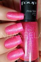 Esmalte Glitter Pink Star - Foup 8ml -