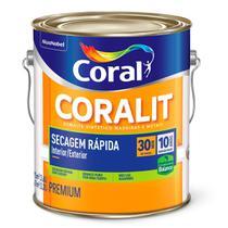Esmalte Sintético Coralit Secagem Rápida Balance Brilhante Branco Gelo Galão 3,6 Litros -