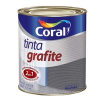 Esmalte tinta grafite fosco cinza claro 900ml Coral -