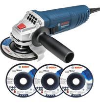 Esmerilhadeira Angular 850w 115mm Gws 850 + 3 Discos Bosch -