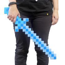 Espada Minecraft De Diamante - 47cm Com Som e Luz - Toys