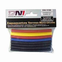 Espaguete Termo Retrátil - DNI, Kit, 15 Peças, 6mm -