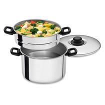Espagueteira e cozimento a vapor 7 litros com 3 peças - ABC ALUMINIO