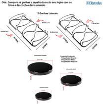 Espalhadores + grelhas electrolux para fogões 4 bocas 50 ss -