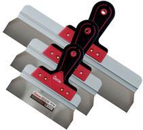Espatula aco inox cortag 3 peças 20/30/60cm  drywall gesso -
