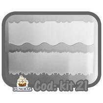 Espátula Decorativa Kit c/ 2 Pçs Cod:21 Solrac -