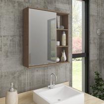 Espelheira para Banheiro 1 Porta 3 Prateleiras Treviso MGM Móveis -