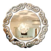 Espelho Acrílico Decorativo Redondo Delicado  Quarto Sala P - Tecnotronics