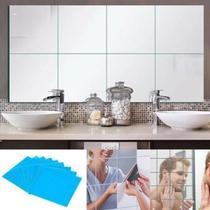 Espelho adesivo 15x15cm decorativo acrilico espelhado quadrado com 12 unidades - Gimp