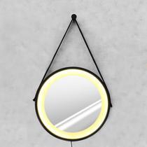 Espelho Adnet 50cm com LED Branco Quente e Botão - Hunter