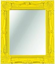 Espelho amarelo - 20x25cm - Mart