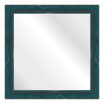 Espelho Brilho Rococo Azul 31x31cm - Kapos