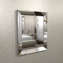 Espelho com moldura chanfrado espelhado 1,00 x 0,80 - ESP01-100 - Camarim Móveis