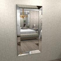 Espelho com moldura chanfrado espelhado 1,50 x 0,80 - ESP01-150 - Camarim Móveis