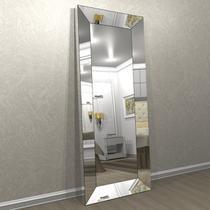 Espelho com moldura chanfrado espelhado Lateral em espelho quadriculado 2,00 m x 0,80 cm - ESP16E-80 - Camarim Móveis