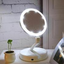 Espelho De Aumento 10x Com Luz De Iluminao Led Para Maquiagem - Reparocell