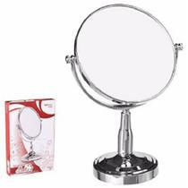 Espelho de Mesa Dupla Face Redondo com Pedestal 8'' - Wellmix