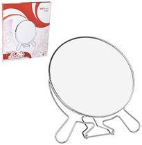 Espelho De Mesa Redondo Dupla Face Com Suporte Aramado 9'' - Wellmix