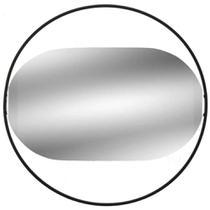 Espelho de Parede Oval com Moldura Preta 35 cm - MABRUK -