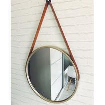 Espelho De Parede Redondo Adnet Quarto Sala Banheiro - Fwb