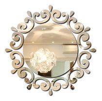 Espelho Decorativo Acrilico Redondo Moderno Quarto Sala - Tecnotronics