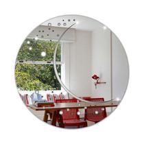 Espelho Decorativo Acrílico Sala Quarto Mandala Redondo 30cm - Tecnotronics