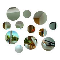 Espelho Decorativo Kit 12 peças Redondas Pequeno - Visual Laser