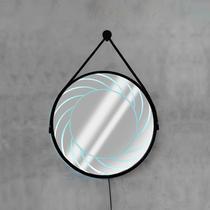 Espelho LED Branco Frio e Botão Liga e Desliga - Hunter