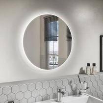 Espelho Multiuso Lapidado Redondo 60cm com LED - Cebrace
