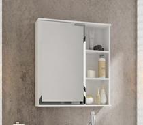Espelho Para Banheiro Treviso 56 Cm MGM Branco - Mgm Móveis