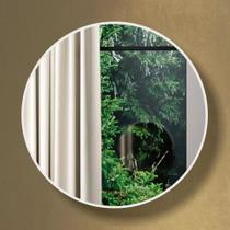 Espelho Redondo 100% Mdf Es11 60 Cm Of White - Dalla Costa -