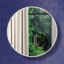 Espelho Redondo 100% Mdf Es9 30 Cm Of White - Dalla Costa -