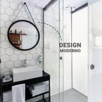 Espelho Redondo Alça Decorativo Adnet Pendurar Parede 60cm - Fwb