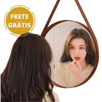 Espelho Redondo Com Alça Modelo Adnet Escandinavo 45 Cm - Fwb
