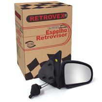 Espelho Retrovisor 2 4 Portas Lado Direito Com Controle Retrovex Celta 2000 A 2006 Rx2228 -
