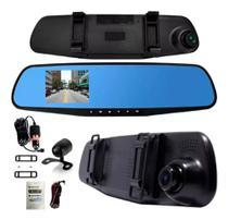 Espelho Retrovisor Com Câmera Frontal Full Hd E Câmera Ré - Firstoption