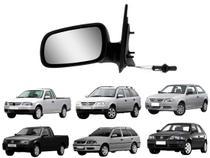 Espelho Retrovisor com Controle Interno Regulagem Lado Esquerdo Volkswagen Gol Parati 4P Saveiro G3 G4 2000 2001 2002 2003 2004 2005 2006 2007 2008 - RETROVEX