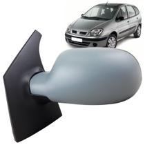 Espelho Retrovisor Externo Lado Esquerdo com Controle Manual Capa de Plástico Prime para Pintar Renault Scenic 98 até 2012 - Spj Ficosa