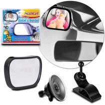 Espelho Retrovisor Interno Auxiliar Luxcar Bebê a Bordo Universal para Para-brisa Quebra Sol Preto -