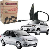 Espelho Retrovisor Lado Direito Ford Fiesta Hatch Sedan Com Controle 2003 a 2012 - RETROVEX