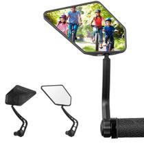 Espelho Retrovisor Par Grande Bike Para Guidão Giratório 360 - Galera da bike