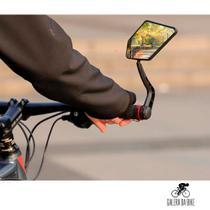 Espelho Retrovisor Par Grande Bike Para Guidão Giratório 360 - GaleraDaBike