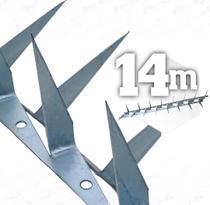 Espeto duplo lança dupla 0,5m - 14 metros cerca proteção - JJ
