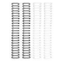 Espiral para Encadernação Wire o The Cinch Preto e Branco 25mm - 4 Unidades - Wer