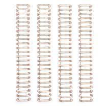Espiral para Encadernação Wire o The Cinch Rose Gold 25mm - 4 Unidades - Wer