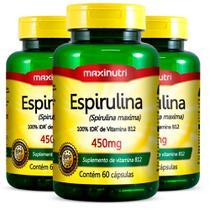 Espirulina - 3x 60 Cápsulas - Maxinutri -
