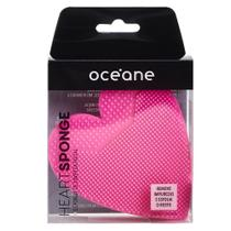 Esponja de Limpeza Facial Océane - Heart Sponge Pink -