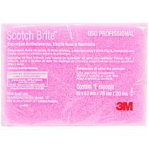 Esponja de Limpeza Sanitária Rosa Scotch-Brite - 3M