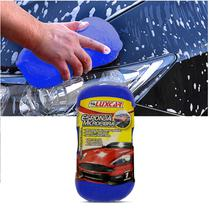 Esponja de Microfibra para Lavar Carro Luxcar Azul em Poliéster -